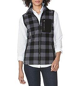 Chaps® Buffalo Check Winter Fleece Vest
