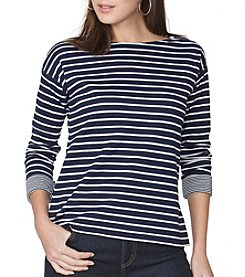 Chaps® Deer Stripe Knit Top