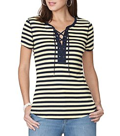 Chaps® Stripe Knit Top
