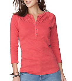 Chaps® Three Quarter Sleeve Knit Top