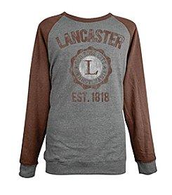 Brew City Brand Men's Long Sleeve Lancaster College Seal Raglan Fleece Tee