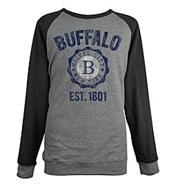 Brew City Brand Men's Long Sleeve Buffalo NY College Seal Raglan Fleece Tee