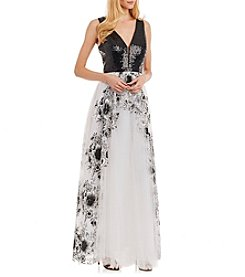 Nicole Miller New York™ Floral Long Gown