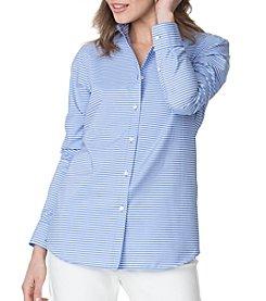 Chaps® Stripe Woven Top