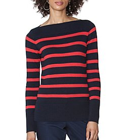 Chaps® Stripe Boatneck Sweater