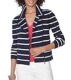 Chaps® Striped Moto Sweater