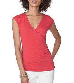 Chaps® Jersey Wrap Top
