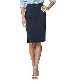 Chaps® Denim Straight Skirt