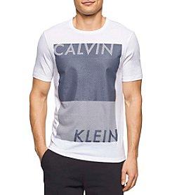 Calvin Klein Men's Short Sleeve Distressed Blocked Tee