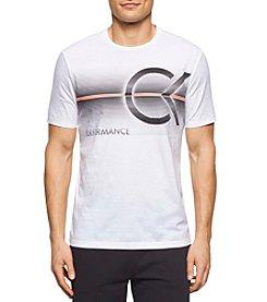 Calvin Klein Men's Short Sleeve Linear Performance Tee