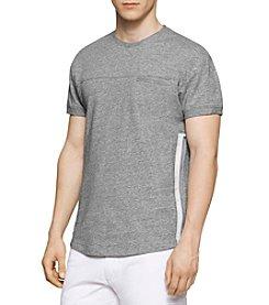 Calvin Klein Men's Short Sleeve Slim Fit Side Zip Tee