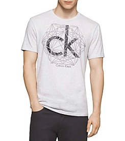 Calvin Klein Men's Short Sleeve Printed Abstract Graphic Tee