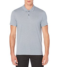 Perry Ellis® Men's Short Sleeve Textured Paisley Printed Polo