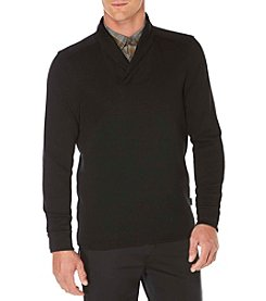 Perry Ellis® Men's Quilted Textured Shawl Collar Sweater