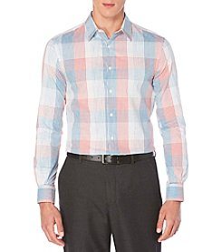 Perry Ellis® Men's Long Sleeve Space Dyed Plaid Button Down Shirt