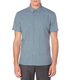 Perry Ellis® Men's Short Sleeve Glen Plaid Button Down Shirt