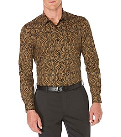 Perry Ellis® Men's Long Sleeve Ornate Print Button Down Shirt