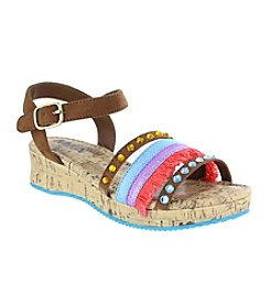 MIA® Girls' Mylie-Cognac Nova Sandals