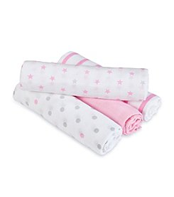 Aden + Anais® Baby Girls' Darling 4-Pack Swaddles