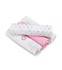 Aden + Anais® Baby Girls' Sweet In Pink 4-Pack Swaddles