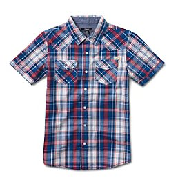 Silver Jeans Co. Boys' 8-20 Short Sleeve Woven Top