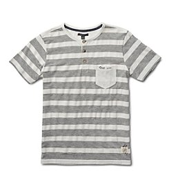Silver Jeans Co. Boys' 8-20 Short Sleeve Striped Pocket Tee