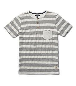 Silver Jeans Co. Boys' 8-20 Short Sleeve Striped Pocket Tee