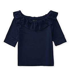 Polo Ralph Lauren® Girls' 2T-6X Ruffle Knit Top