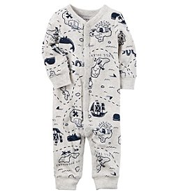 Carter's® Baby Boys Map Printed Footless 1-Piece
