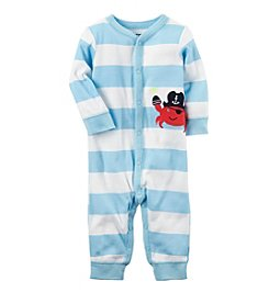 Carter's® Baby Boys Striped Crab Footless 1-Piece
