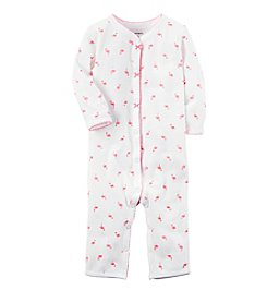 Carter's® Baby Girls' Flamingo Printed Footless 1-Piece