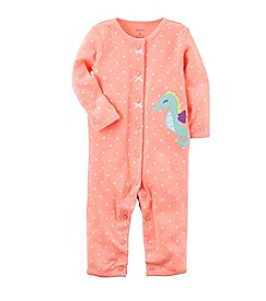 Carter's® Baby Girls' Dotted Seahorse Footless 1-Piece