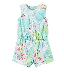 Carter's® Baby Girls' Floral Palm Romper