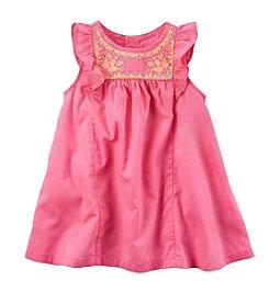 Carter's® Baby Girls' Flutter Sleeve Linen Dress