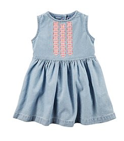 Carter's® Baby Girls' Chambray Embroidered Dress