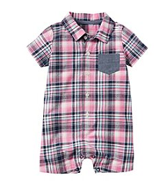 Carter's® Baby Boys Plaid Woven Romper
