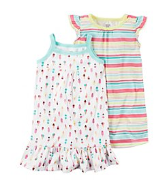 Carter's® Girls' 4-14  2-Pack Ice Cream Gowns