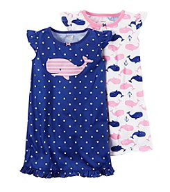 Carter's® Girls' 4-14 2-Pack Whale Gowns