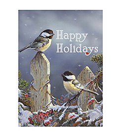 LPG Greetings 40-Ct. Birds On Fence Happy Holidays Holiday Cards