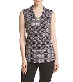 Jones New York® Print V-Neck Tank Top