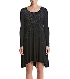 Nina Leonard® Studed Swing Dress