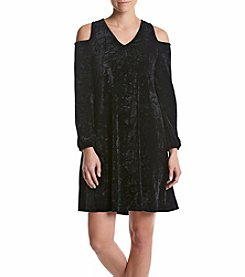 Nina Leonard® Crushed Velvet Dress