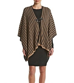 Nina Leonard® Houndstooth Poncho Dress