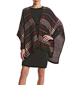 Nina Leonard® Plaid Poncho Dress