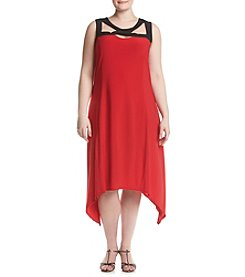 Studio Works® Plus Size Maxi Dress With Sharkbite Hem