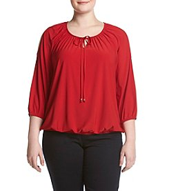 Relativity® Plus Size Cold Shoulder Top