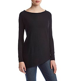 Splendid® Asymmetrical Hem Boatneck Sweater