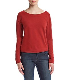 Splendid® Strappy Crossback Sweatshirt