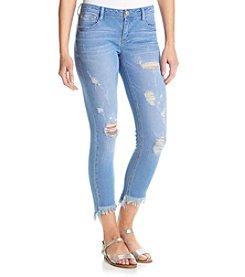 Crave Fame Fringe Cuff Ankle Jeans