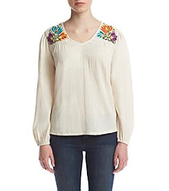 Hippie Laundry Double Gauze Peasant Top